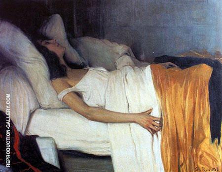 Morfina Painting By Santiago Rusinol - Reproduction Gallery