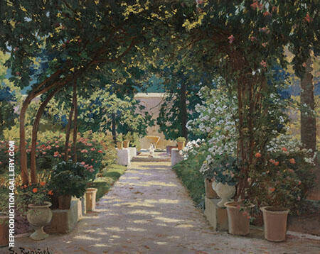 Terrace in Jativa Valencia By Santiago Rusinol