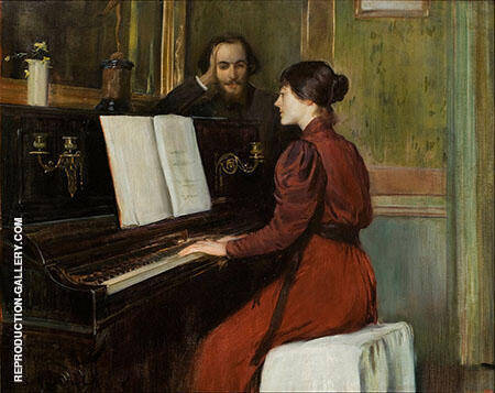 The Bohemian Portrait of Erik Satie in His Studio in Montmartre 1891 By Santiago Rusinol
