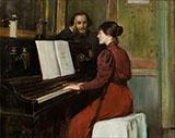 The Bohemian Portrait of Erik Satie in His Studio in Montmartre 1891 By Santiago Rusinol