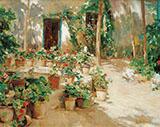 The Courtyard By Santiago Rusinol