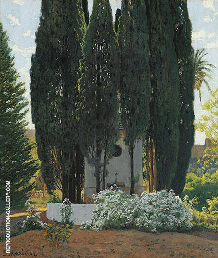 The Gardens of The Generalife By Santiago Rusinol