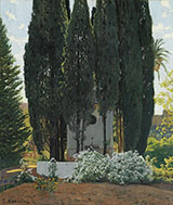 The Gardens of The Generalife By Santiago Rusinol