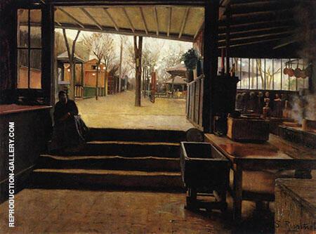 The Kitchen of The Moulin de la Galette Painting By Santiago Rusinol