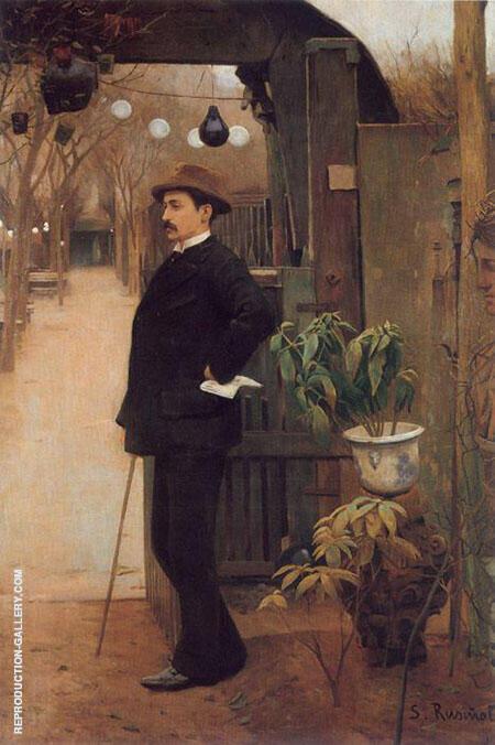 The Painter Miguel Utrillo Painting By Santiago Rusinol