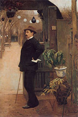 The Painter Miguel Utrillo By Santiago Rusinol