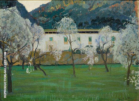 White Farmhouse Majorca 1902 By Santiago Rusinol