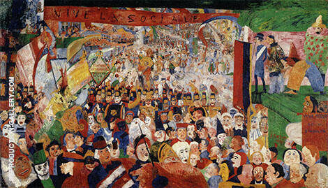 Christ's Entry into Brussels 1889 Painting By James Ensor