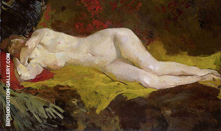 Ann on Yellow Cloth By George Hendrik Brietner