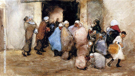 Distribution of Soup Painting By George Hendrik Breitner