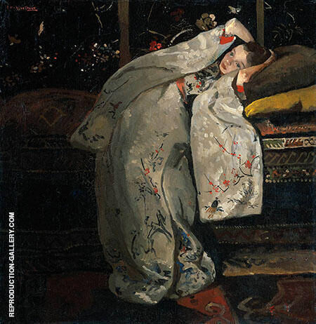 Girl in a White Kimono By George Hendrik Brietner