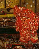 Girl in Red Kimono By George Hendrik Breitner