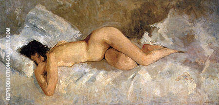 Reclining Nude Painting By George Hendrik Breitner - Reproduction Gallery