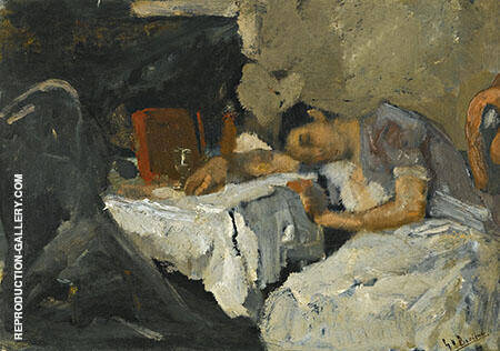 Sleeping Girl By George Hendrik Brietner
