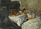Sleeping Girl By George Hendrik Breitner