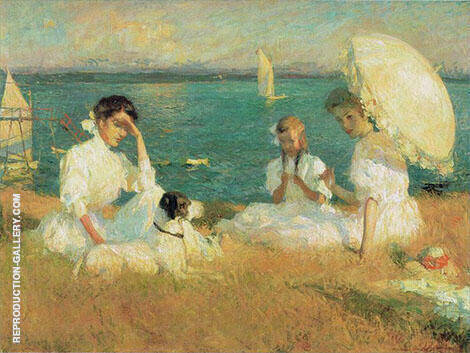 Summer Afternoon 1906 Painting By Frank Weston Benson