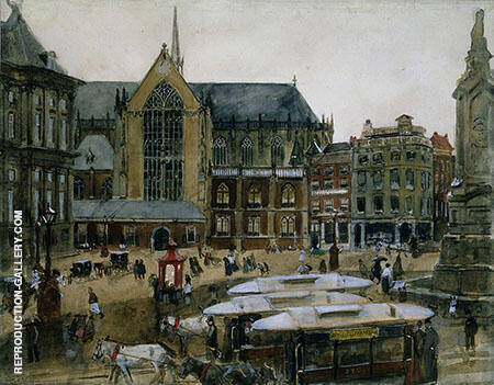 The Dam in Amsterdam By George Hendrik Breitner