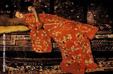 The Red Kimono By George Hendrik Breitner