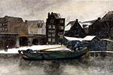 The Teertuinen in Winter Amsterdam By George Hendrik Breitner