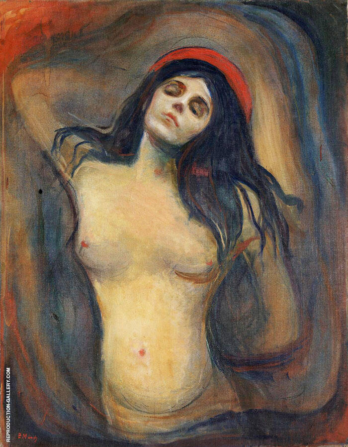Madonna c1894 Painting By Edvard Munch - Reproduction Gallery