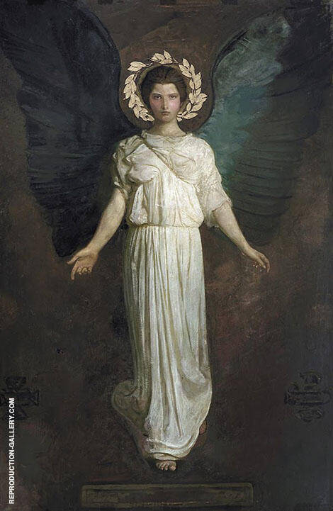 A Winged Figure Monadnock Angel Painting By Abbott H Thayer