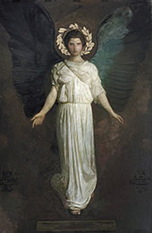 A Winged Figure Monadnock Angel By Abbott H Thayer