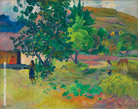 Te Fare La Maison 1892 By Paul Gauguin