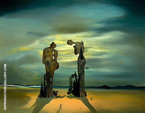Archeological Reminiscence of Millet's Angelus By Salvador Dali