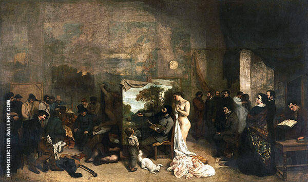 The Artist's Studio c1854 Painting By Gustave Courbet
