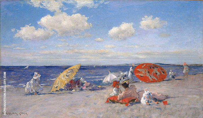 The Seaside 1892 Painting By William Merritt Chase - Reproduction Gallery