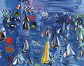 Regatta at Cowes 1934 By Raoul Dufy