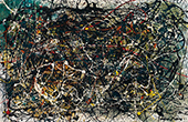 Untitled 1947 12 By Jackson Pollock (Inspired By)