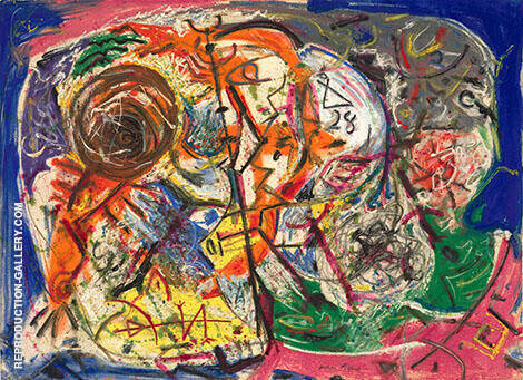 Untitled 1946 B By Jackson Pollock Replica Paintings on Canvas - Reproduction Gallery