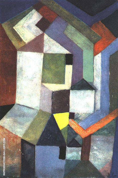 Pious Northern Landscape 1917 Painting By Paul Klee - Reproduction Gallery