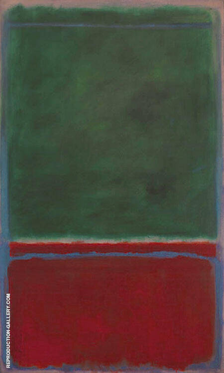 No 7 Green and Maroon 1953 By Mark Rothko