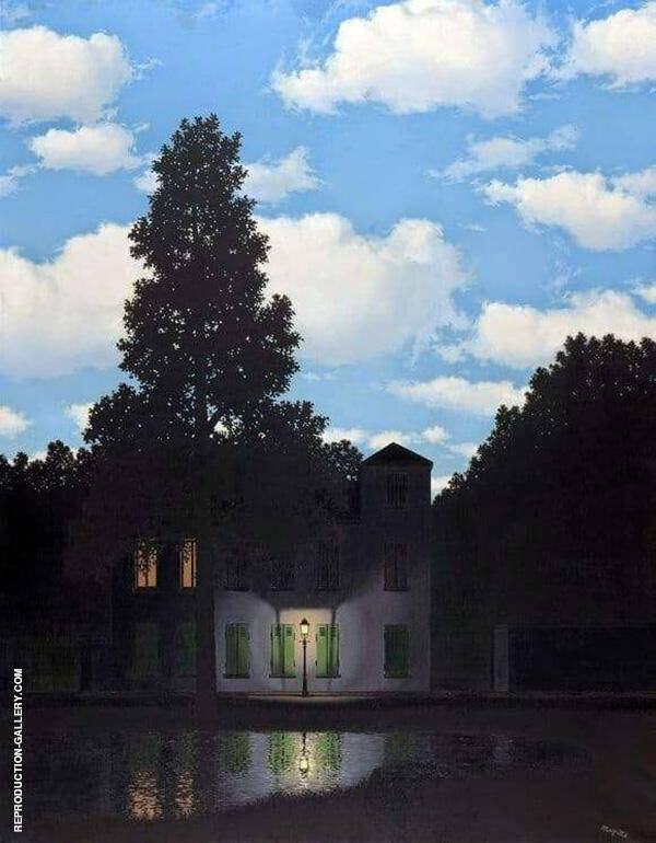 Empire of Light c1953 Painting By Rene Magritte - Reproduction Gallery
