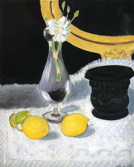 Still Life with Lemons By Henri Matisse - Oil Paintings & Art Reproductions - Reproduction Gallery