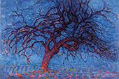Red Tree By Piet Mondrian