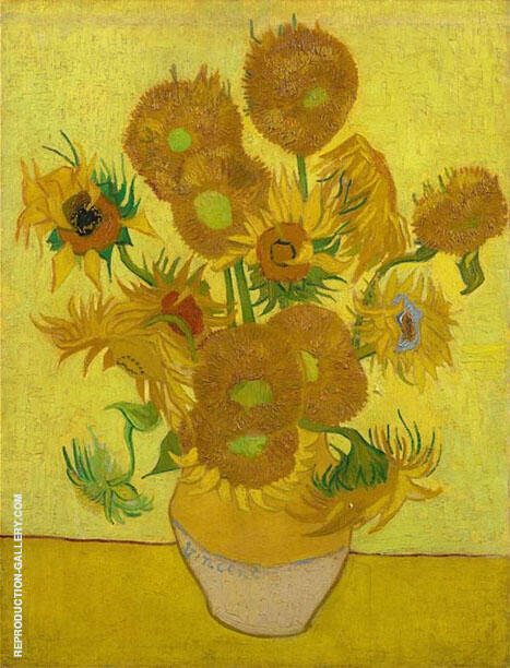 Sunflowers 1889 By Vincent van Gogh