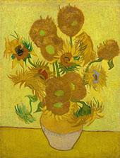 Sunflowers 1889 By Vincent van Gogh