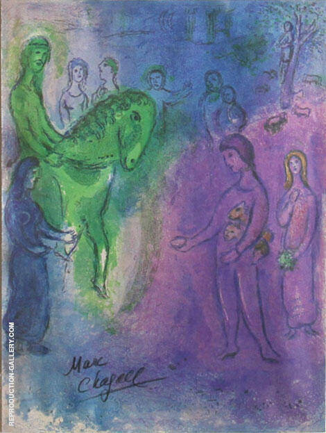 The Arrival of Dionysophanes Painting By Marc Chagall
