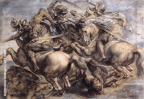 The Battle of Anghiari By Peter Paul Rubens
