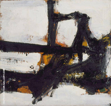 Orange Outline 1955 By Franz Kline