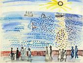 Promeneurs au bord de la mer au Havre 1926 By Raoul Dufy