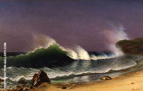 After a Norther, Bahamas, c1878 Painting By Albert Bierstadt