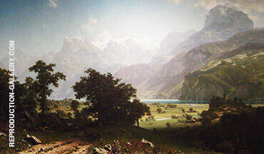Lake Lucerne 1858 By Albert Bierstadt