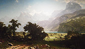 Lake Lucerne 1858 By Albert Bierstadt