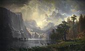Among the Sierra Nevada Mountains 1868 By Albert Bierstadt