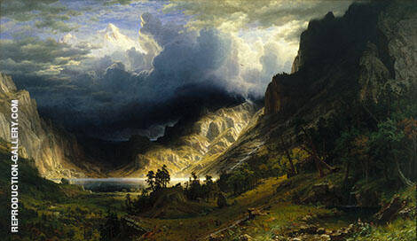 Storm in the Ricky Mountains,Mount Rosalie 1866 By Albert Bierstadt