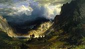 Storm in the Rocky Mountains,Mount Rosalie 1866 By Albert Bierstadt